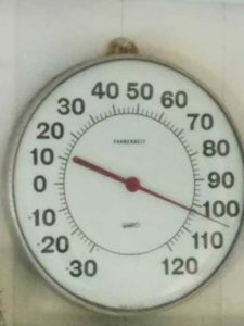 102 on the thermometer!