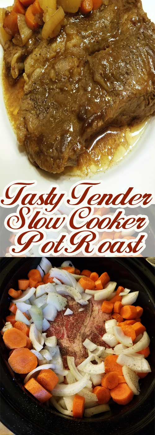 Slow cooking gives you a roast that is so tender that it literally melts in your mouth. This recipe could not be any easier to prepare, and is sure to be a family favorite!