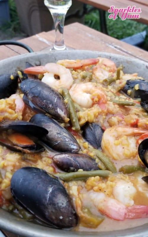 Skillet Grilled Seafood Paella