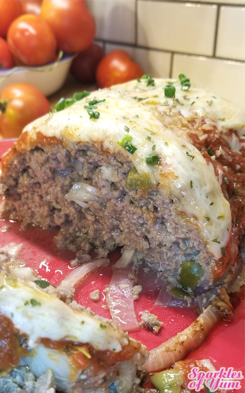 This Italian Meatloaf tastes amazing! If you love meatballs you are going to love this. It's so juicy and packed full of flavor!