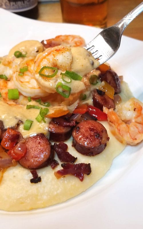 Yummmmalicious! Absolutely rich and delicious, this Shrimp and Grits recipe is right up there with many of the great restaurants in the Lowcountry!