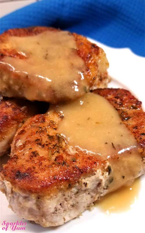 It only looks like we're getting fancy around here with these Pork Chops in Creamy Wine Sauce, but this dish is so quick and easy that anyone can make this incredibly delicious dinner in no time at all!