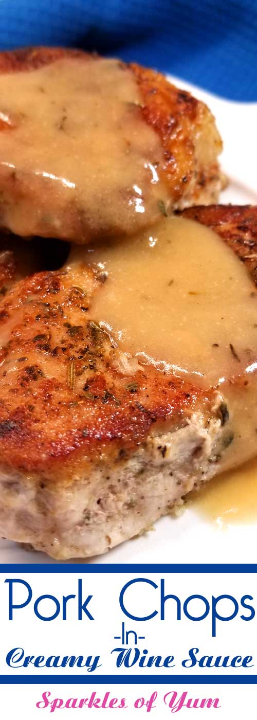 Pork Chops in Creamy Wine Sauce
