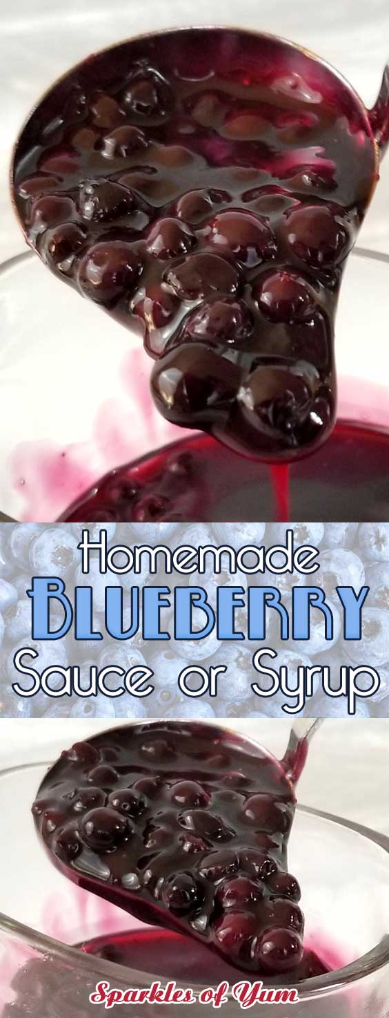 If you are already planning next weekends brunch, this scrumptious blueberry sauce (or syrup, or topping, or whatever you want to call it) needs to be on the table! #blueberries #blueberryrecipe #fruittopping #fruitsyrup