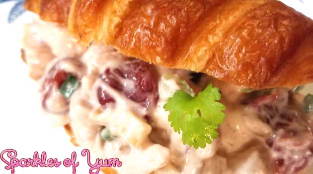 ThisCherry Chicken Salad recipe is delicious, easy to make, and perfect for those days when it is just too hot or busy to be bothered with using the stove.