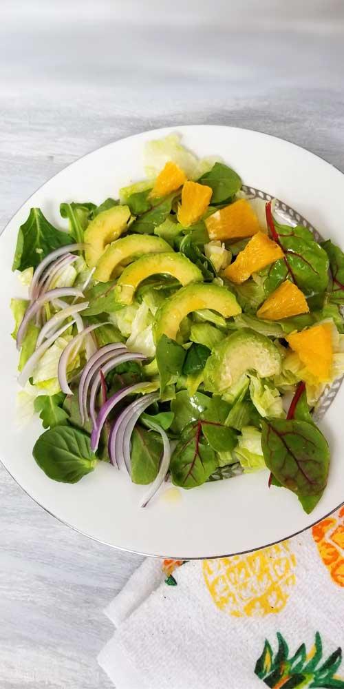 Cuban Avocado Citrus Salad with Honey Lemon Dressing