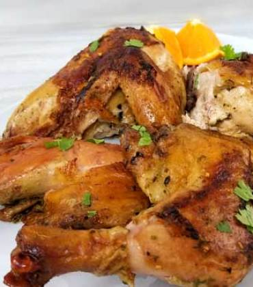 Cuban Mojo Spatchcock Chicken