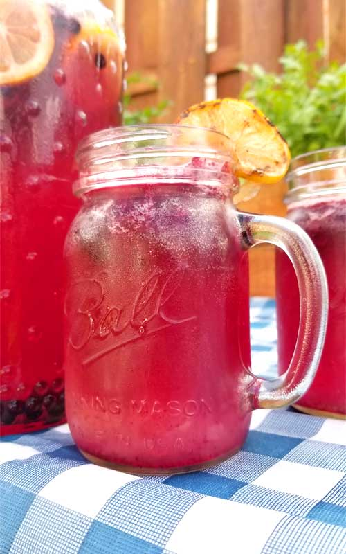 The whole family will love this Frosty Blueberry Lemonade. It has just the right amount of sweetness and tart, with slushie blueberry ice to keep you hydrated to beat the heat on a hot summer day.