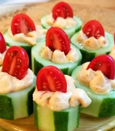 Cucumber Tomato Appetizer Bites
