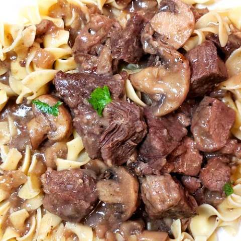 The best most tender flavorful fall apart Garlic Butter Beef Tips and Mushroom Gravy. It's a great recipe for a chilly evening. Very comforting and hearty.