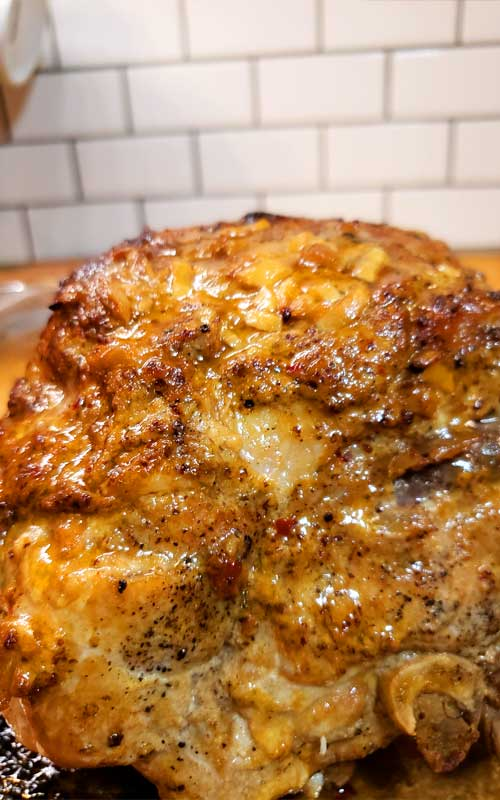 Fabulously flavorful, with a sweet and tangy glaze, so tender and juicy, I can't wait to make this Pork Roast with Brown Sugar Apple Dijon Glaze again.