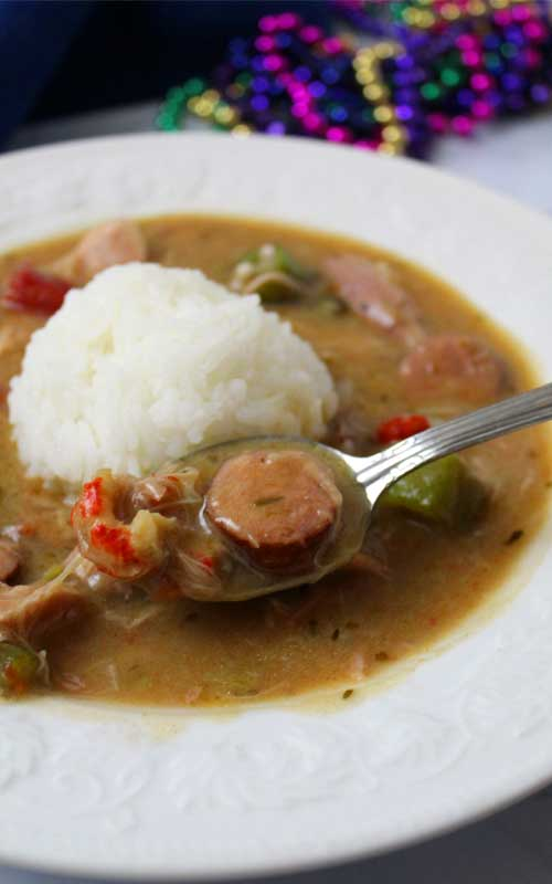 Lawd have mercy, this Authentic New Orleans Cajun Gumbo is unbelievably delicious, thick, rich and full of Cajun flavor!