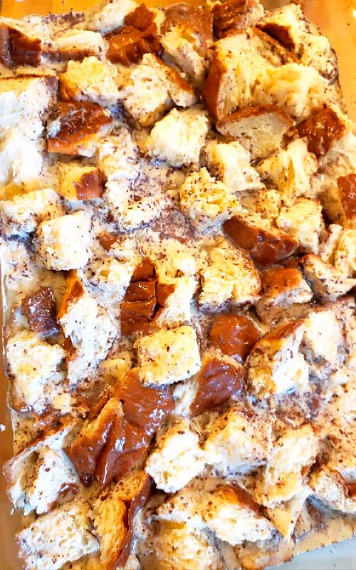 Perfect for a fall breakfast or a busy holiday morning. This Caramel Apple French Toast Casserole comes in handy when you have overnight guests, because you can easily toss it together the night before and feed a hungry crowd in no time.