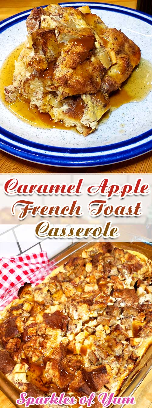 Planning a fall brunch? This Caramel Apple French Toast Casserole would definitely be the star before you go out to the pumpkin patch or that fall hayride, or a long drive to see the autumn leaves with the family. #frenchtoast #breakfast #apple #caramel #fall #autumn