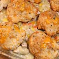 Cheddar Bay Biscuit Chicken Pot Pie