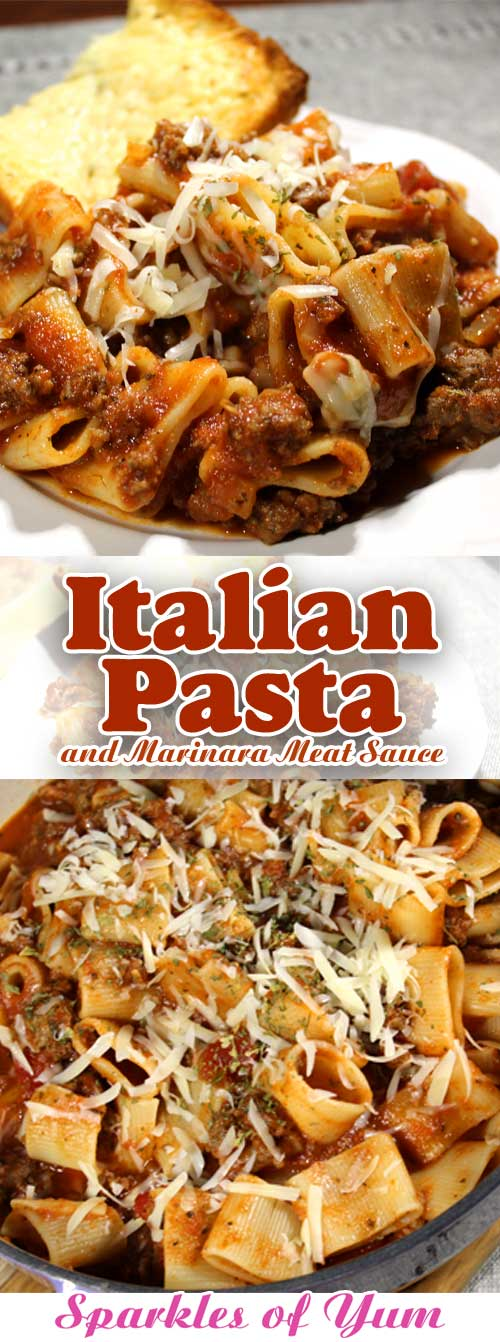 Italian Pasta and Marinara Meat Sauce