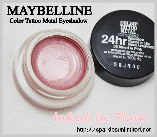 Maybelline Color Tattoo Metal 24hr Eyeshadow 55 INKED IN PINK,Maybelline Color Tattoo Metal 24hr Eyeshadow 55 INKED IN PINK Review, Maybelline Color Tattoo Metal 24hr Eyeshadow 55 INKED IN PINK swatches,Maybelline Color Tattoo Metal 24hr Eyeshadow Review,Maybelline Color Tattoo Metal 24hr Eyeshadow Swatches, Maybelline Color Tattoo Metal 24hr Eyeshadow , Maybelline Cosmetics, Maybelline India, Maybelline