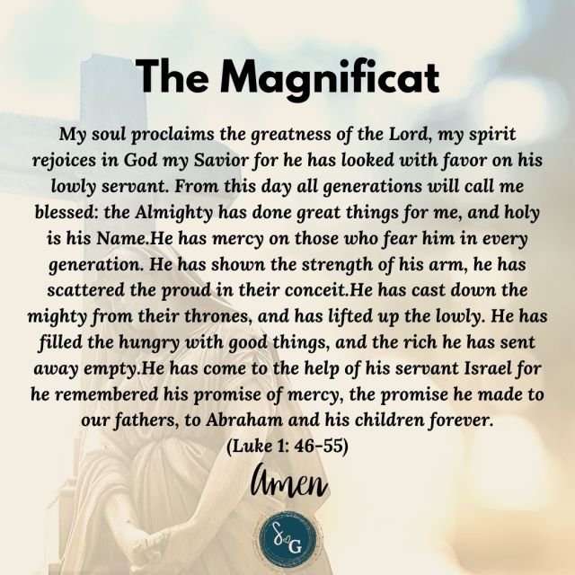 quick powerful prayers the magnificat