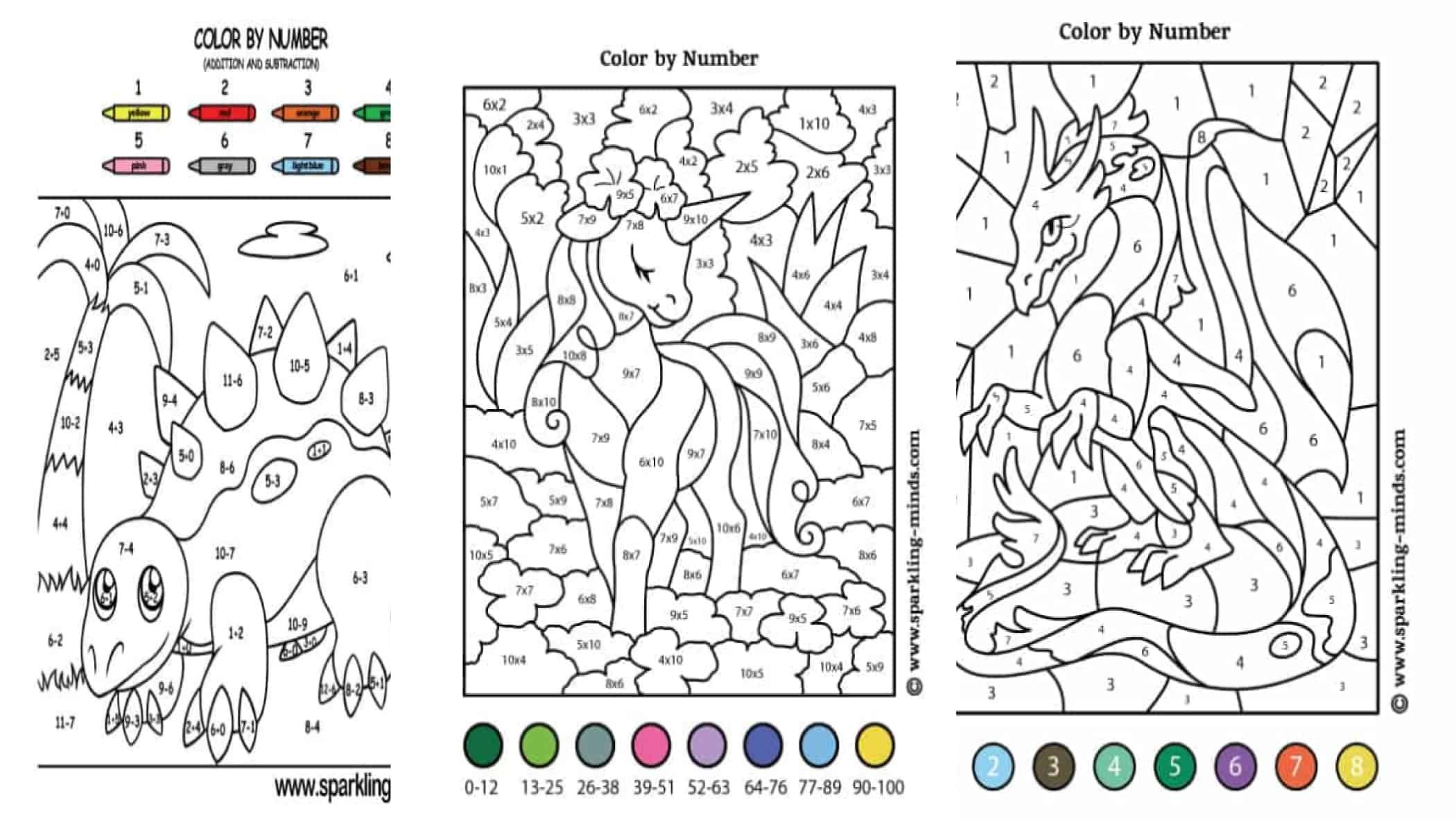 Math Coloring Worksheets For Kids
