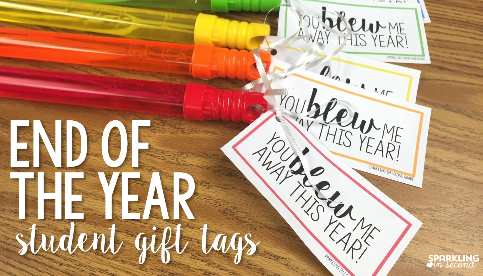 photo relating to You Blew Me Away This Year Free Printable called Close of Yr Present Bubble Tags - Glowing within Instant Quality