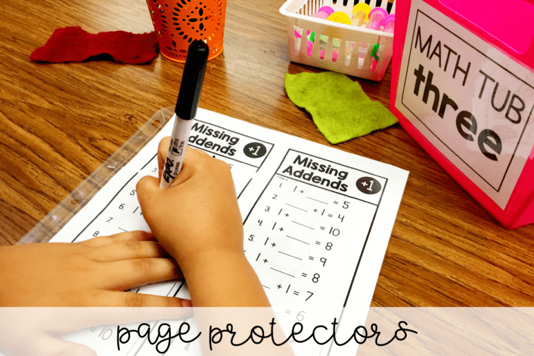 Teachers love Amazon! Here are a few teacher must-haves that you can find on Amazon for organizing any classroom! Page protectors make it easy to make ANYTHING reusable.