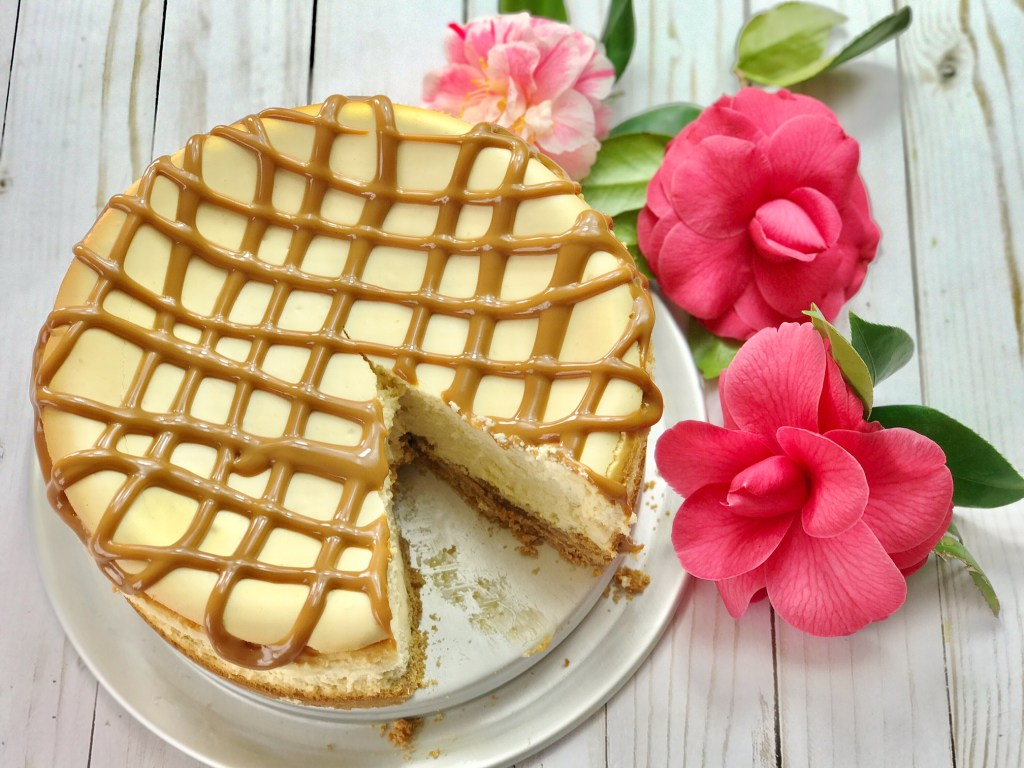 Dulce de Leche Cheesecake with a Homemade Cookie Crust