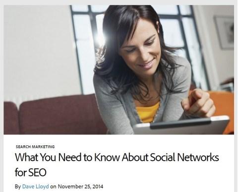 Social Networks for SEO