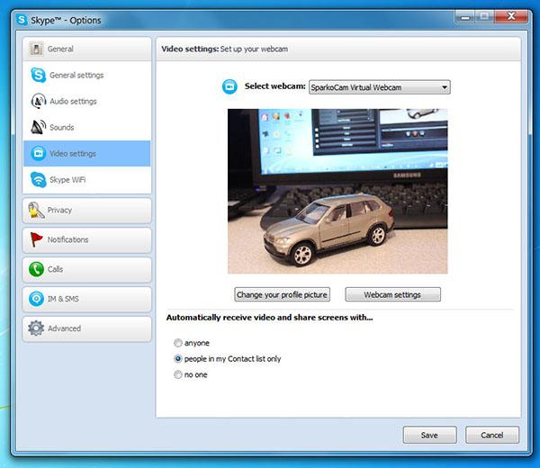 dslr camera in skype