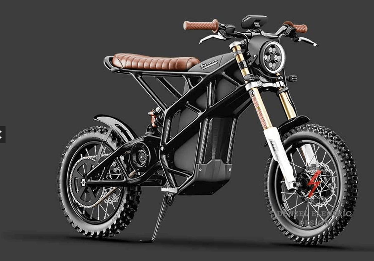 electric cafe motor bike