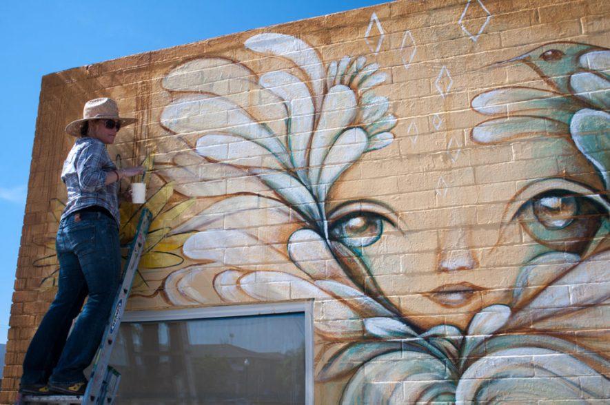 Gloria Muriel - Adams Ave mural. Photo credit Alex H. Banach