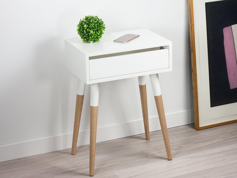 Scandinavian Design Nightstand Danish Bedside Table