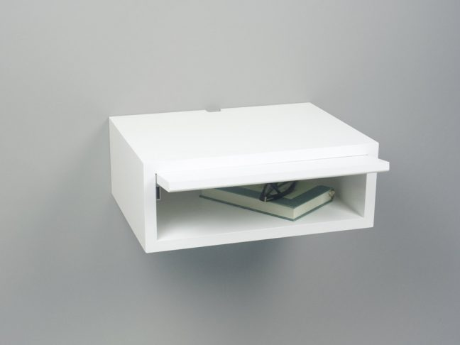 modern floating nightstand white, white floating nightstand