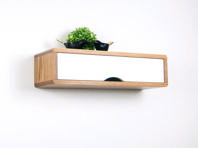 Floating Entryway Shelf, Hardwood Floating Shelf