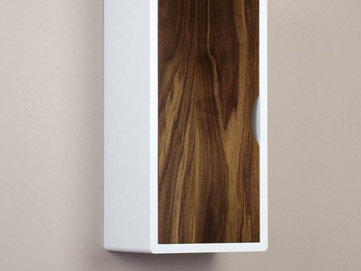 white floating cabinet walnut door