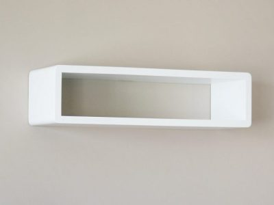 Whyte Slim Modern White Floating Shelf, Decorative Shelf, Cube Shelf