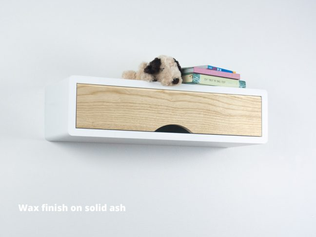 Slim modern Floating Shelf Ash