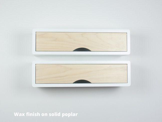 floating box shelf white, mid-century modern wall decor box