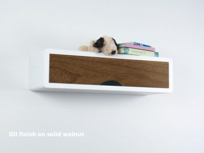 Slim modern Floating Shelf Walnut