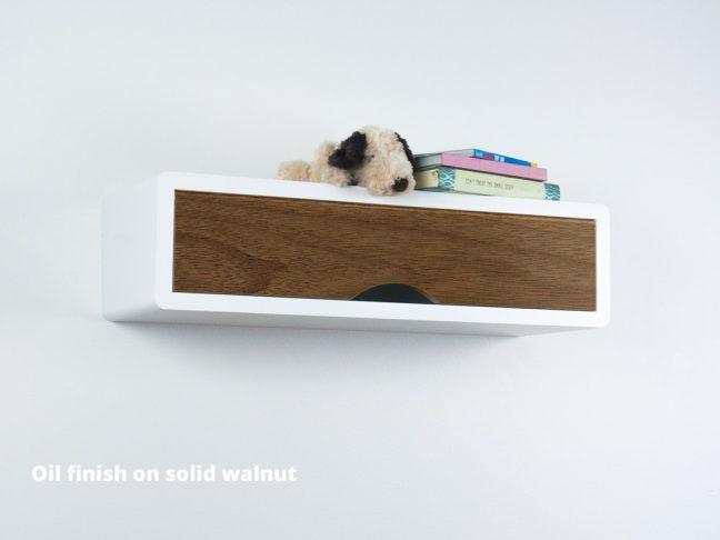 Slim modern Floating Shelf Walnut