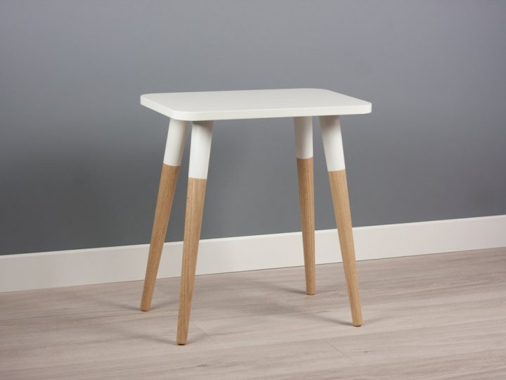 Bona M18 Small Side Table, Modern End Table, Minimalist Scandinavian Design
