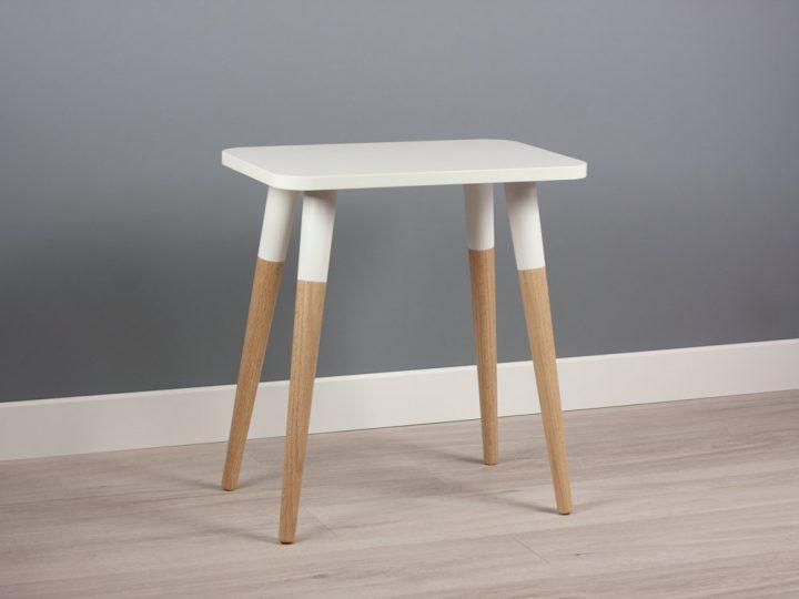 Bona M18 Small Side Table, Modern End Table, Minimalist Scandinavian Design
