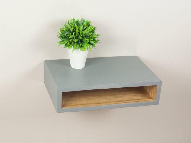 Slim Open Shelf Nightstand