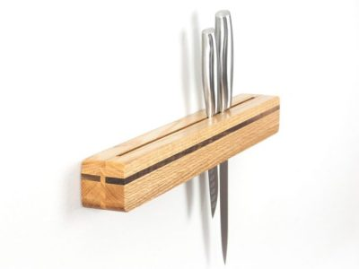 Blanca Wall Mount Knife Block, Knife Holder, Kitchen Decor