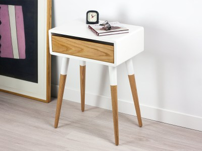Modern Danish Nightstand, Retro Side Table