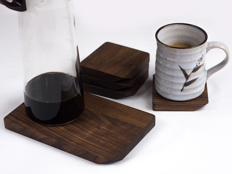 natural walnut wood coasters
