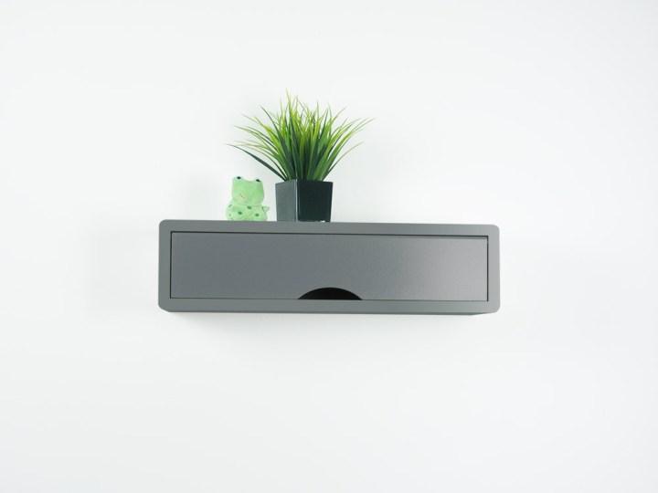 Gray Contemporary Floating Shelf