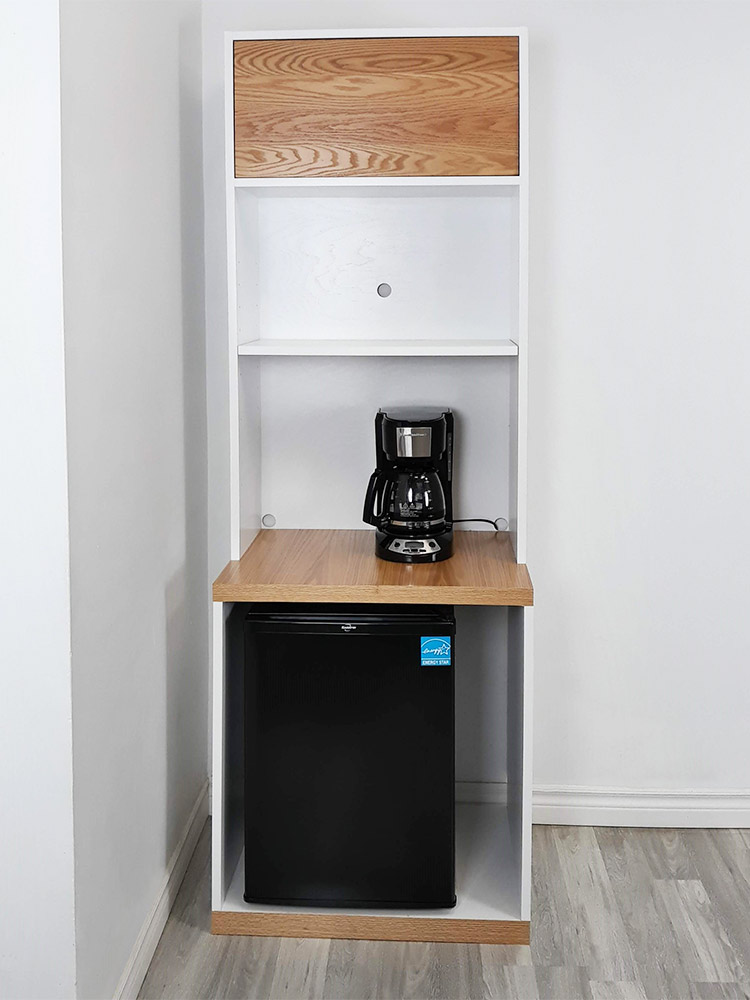 Multi Functional Cupboard, Mini Fridge Microwave Cabinet