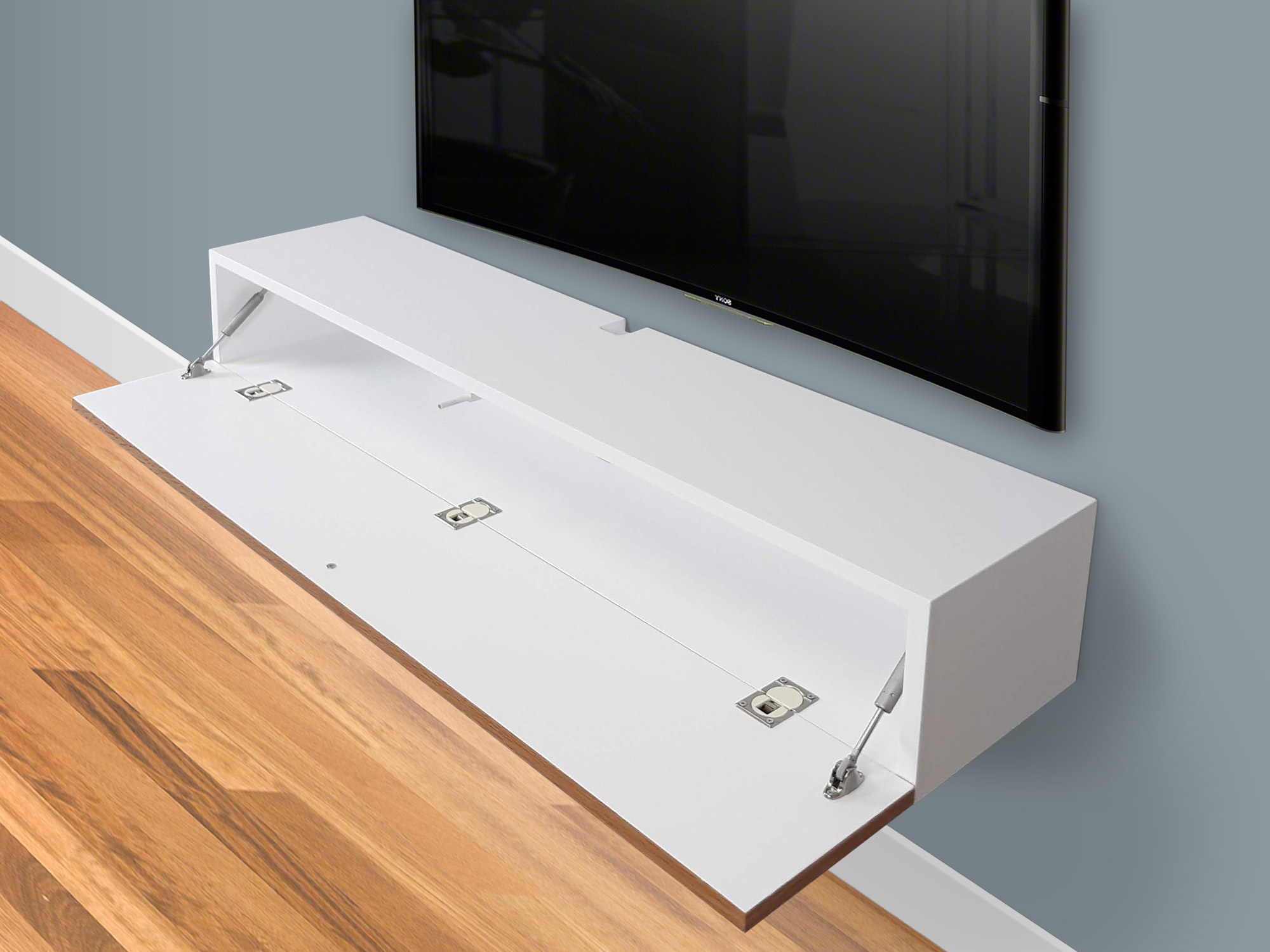 blanca white floating tv stand 48in