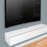 Blanca White Floating Tv Stand Wall Mount Media Console Floating Entertainment Shelf