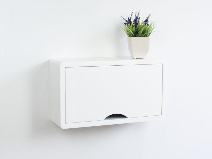 Mini White Floating Cabinet